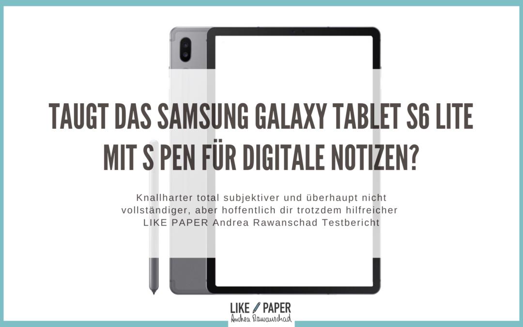 Test des Galaxy Tablets für digitale Notizen